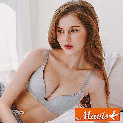 Mavis瑪薇絲-幾何蕾絲蜂巢無鋼圈內衣(海鷗灰)