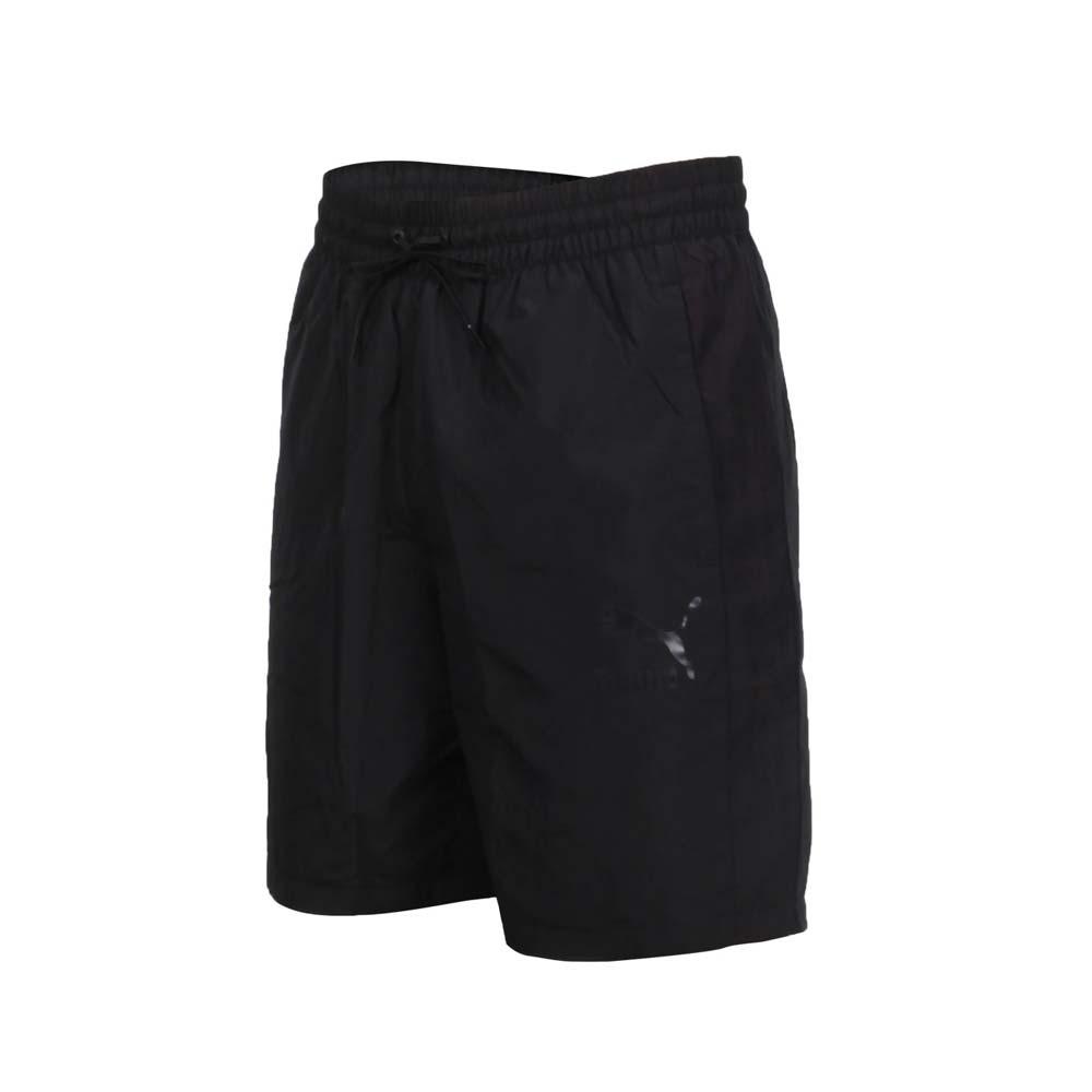 PUMA 男8吋短風褲-五分褲 慢跑 路跑 歐規 防風 平織 透氣 59768601 黑