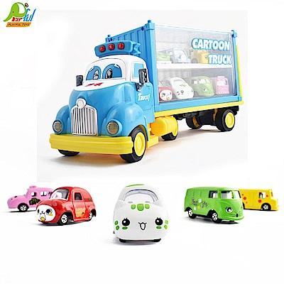 Playful Toys 頑玩具 合金慣性小車貨櫃車