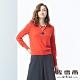 麥雪爾 羊毛提花造型縮腰針織上衣-桔紅 product thumbnail 1