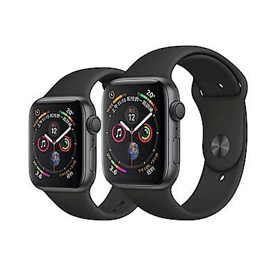 Apple Watch S4 44mm GPS版 太空灰色鋁金屬錶殼配黑色運動型錶帶