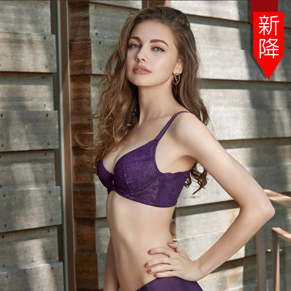曼黛瑪璉 V極線內衣  B-E罩杯(繽紛紫)