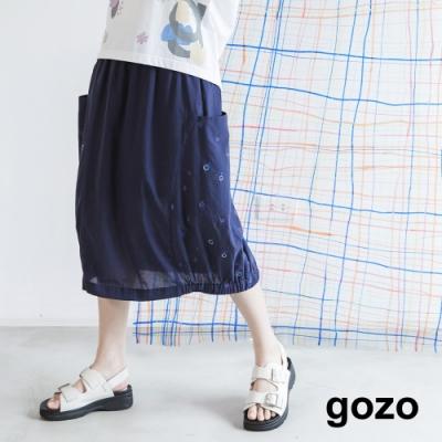 gozo-經典燈泡繡花燈籠裙(兩色)