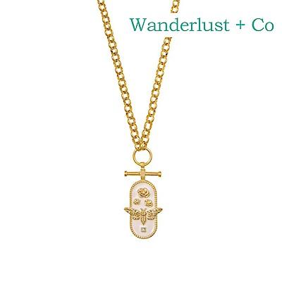 Wanderlust+Co 澳洲時尚品牌 FLUTTER秘密花園項鍊 金色