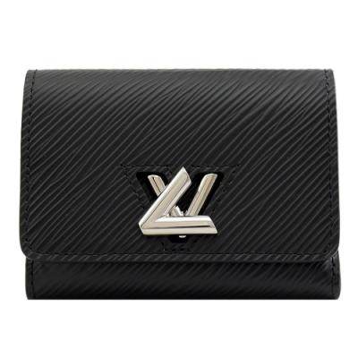 LV M63322 Twist XS水波紋EPI牛皮零錢短夾(黑)