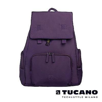 TUCANO 超輕量防潑水撞色系休閒大容量後背包-紫色