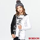 BOBSON 女款黑白對稱連帽外套