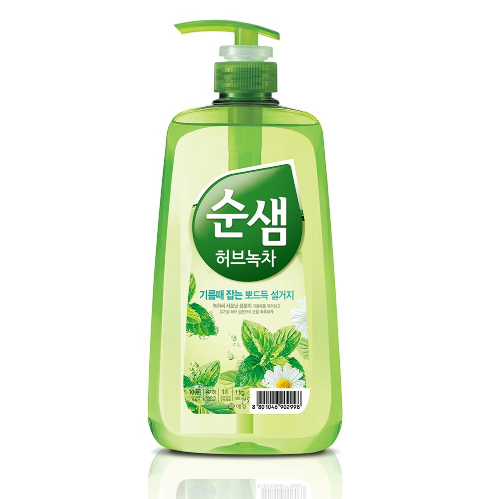 韓國AK  全植物草本甘菊綠茶洗潔液 1KG