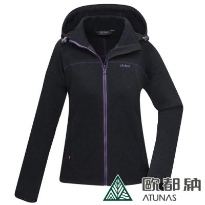 【ATUNAS 歐都納】女款PRIMALOFT保暖外套A1GA2018W黑/抗風透氣/科技保溫棉抗潮/輕盈柔軟
