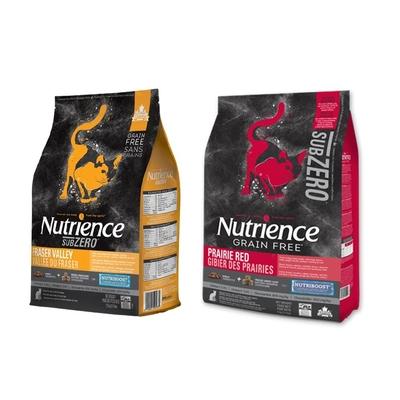 【2入組】Nutrience紐崔斯SUBZERO黑鑽頂極無穀貓+凍乾 2.27kg(5lbs) 送全家禮卷50元*1張 (購買第二件贈送寵鮮食零食1包)
