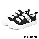 【KANGOL】餅乾魔鬼氈帆布鞋-共兩色