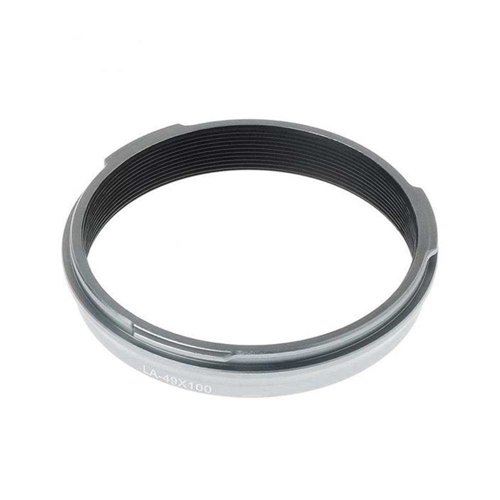 KIWIFOTOS副廠Fujifilm轉接環LA-49X100(金屬製,銀色)