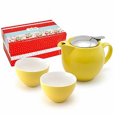 ZERO JAPAN 典藏陶瓷一壺兩杯超值禮盒組(甜椒黃)