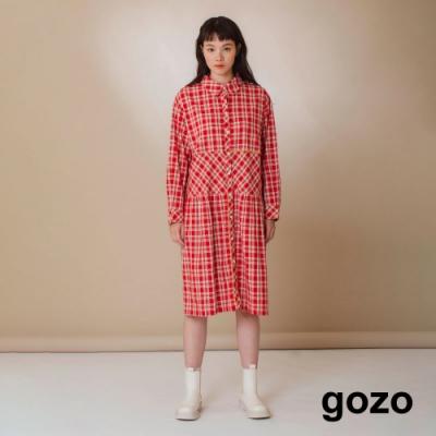 gozo-格子襯衫洋裝(兩色)