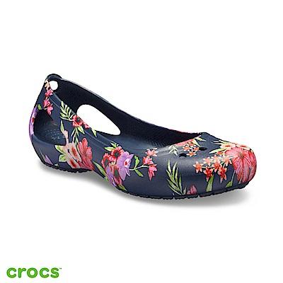 Crocs 卡駱馳 (女鞋) 卡笛印花平底鞋 205862-96N