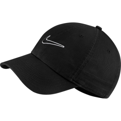 NIKE 帽子 老帽 棒球帽 遮陽帽 可調式 黑 943091010 U NSW H86 SWOOSH WASH CAP