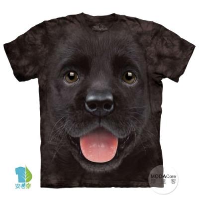 摩達客-美國The Mountain  小黑拉不拉多犬微笑 純棉環保短袖T恤