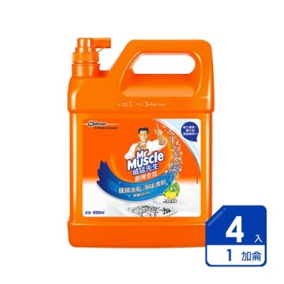 威猛先生 廚房清潔劑清爽檸檬加侖桶(4入/箱)