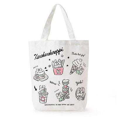 Sanrio 大眼蛙黑板塗鴉系列繽紛圖案帆布手提袋
