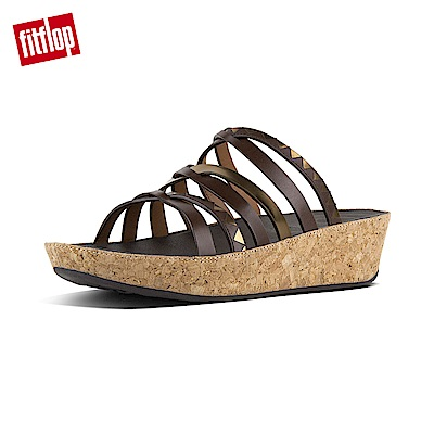 FitFlop LINNY SLIDE ZIGZAG MIRROR-咖啡