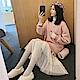 中大尺碼圓領拼接內裡加絨下擺拼接點點紗裙洋裝XL~4L-Ballet Dolly