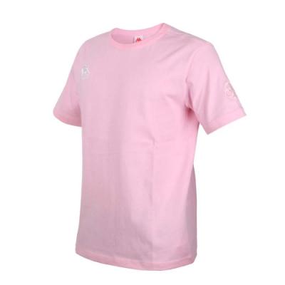 KAPPA DD52聯名男女短袖T恤-限量-菱格世代 純棉 台灣製 休閒上衣 33145BW-765 粉紅白