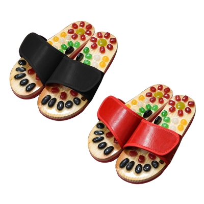 【Effect】舒緩足壓-養生腳底按摩拖鞋(2色可選)