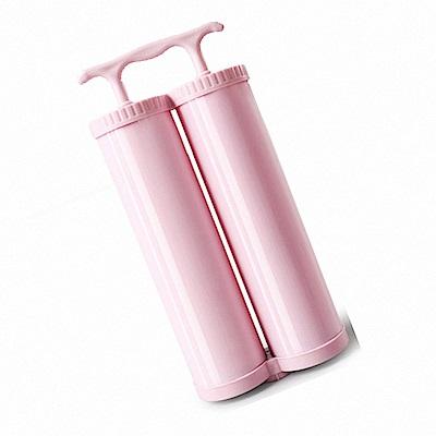 KD003 手動抽氣泵 粉色雙筒 抽氣泵 壓縮袋手泵 收納袋抽氣泵 抽真空手泵 吸氣泵