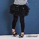 Little moni 假兩件網紗蓬裙褲(三色可選)
