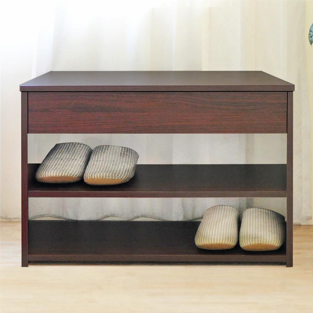 《HOPMA》DIY巧收掀蓋式穿鞋椅/坐椅/隱藏式-寬60.2 x深30.2 x高42.2cm product image 1