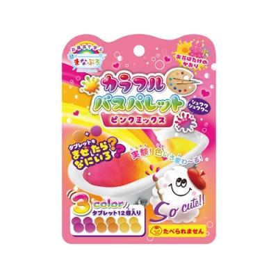 日本NOL-趣味調色盤入浴錠(粉紅)(花香)1入