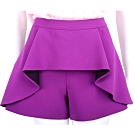 BOUTIQUE MOSCHINO 紫色荷葉波浪剪裁設計短褲