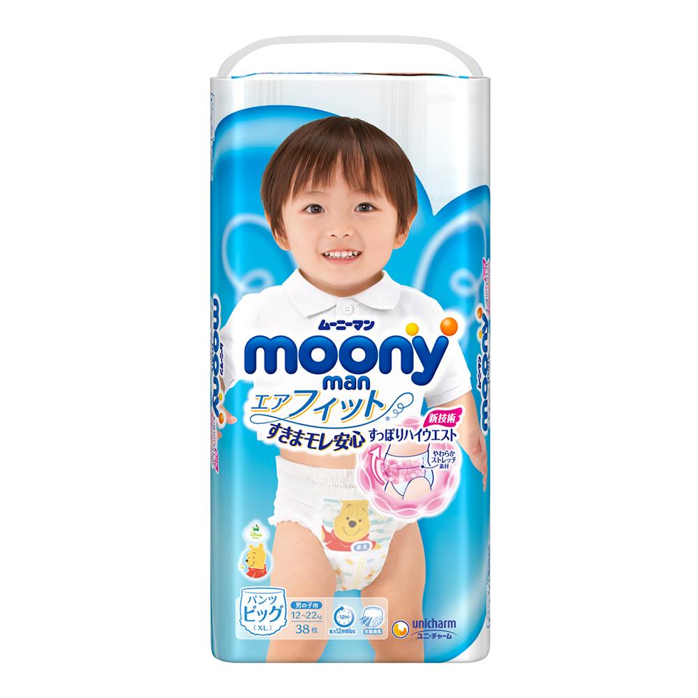 滿意寶寶 日本頂級超薄褲型 紙尿褲男用(XL)(38片 x 4包/箱)