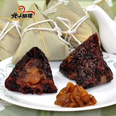 北斗麻糬 紫米桂圓紅豆粽(6粒/盒,共2盒)