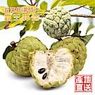 水果達人 台東飽滿碩大霸王釋迦-1箱(8顆/箱)