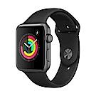 Apple Watch Series 3 (GPS) 42mm 太空色鋁金屬錶殼+黑色運動錶帶