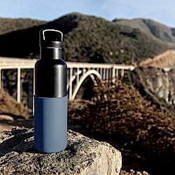 美國HYDY時尚保溫瓶_CinCin Black 海軍藍-黑瓶 590ml