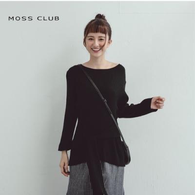 【MOSS CLUB】日系顯瘦綁帶-針織衫(三色)