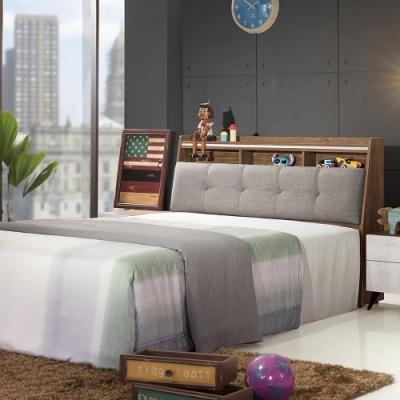 DINO清水模風格6尺雙人床-182x212x102cm