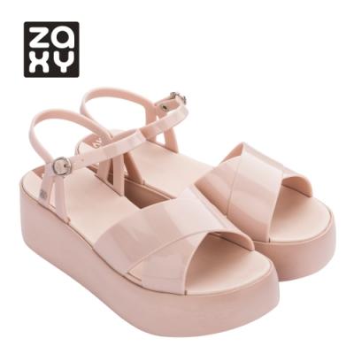 Zaxy ENJOY系列厚底一字涼鞋-淺粉