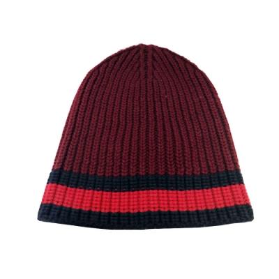 GUCCI  紅藍條紋針織毛帽(紅色)