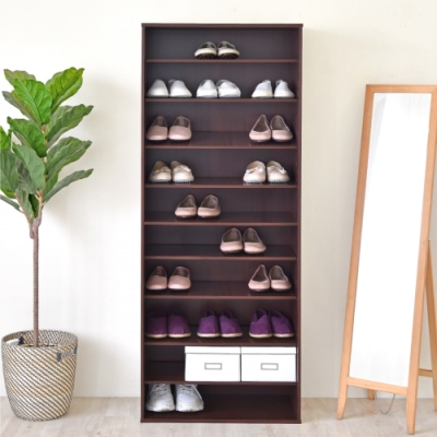 《HOPMA》DIY巧收十層開放式鞋櫃--寬60.5x深30.5x高162 cm