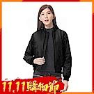 【時時樂限定】zuzai 自在雲曦系列 蓄熱絨飛行外套-女-黑色