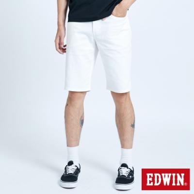 EDWIN EDGE LINE 基本五袋式 休閒短褲-男-白色