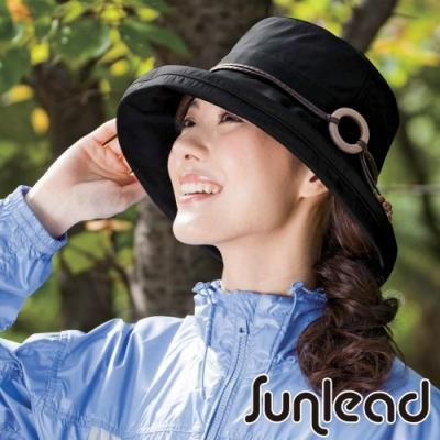 Sunlead 晴雨兩用。防潑水輕量抗UV防曬遮陽軟帽 (黑色)