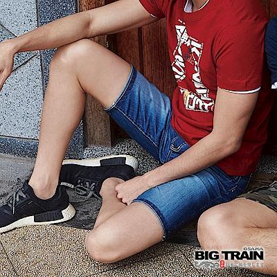 BIG TRAIN COOLMAX丹寧水洗短褲-男