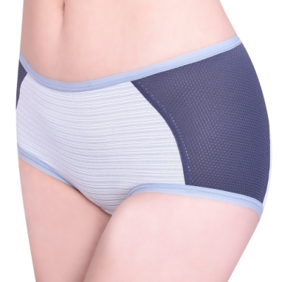 思薇爾 單品褲系列M-XL素面中低腰平口內褲(墨水藍)