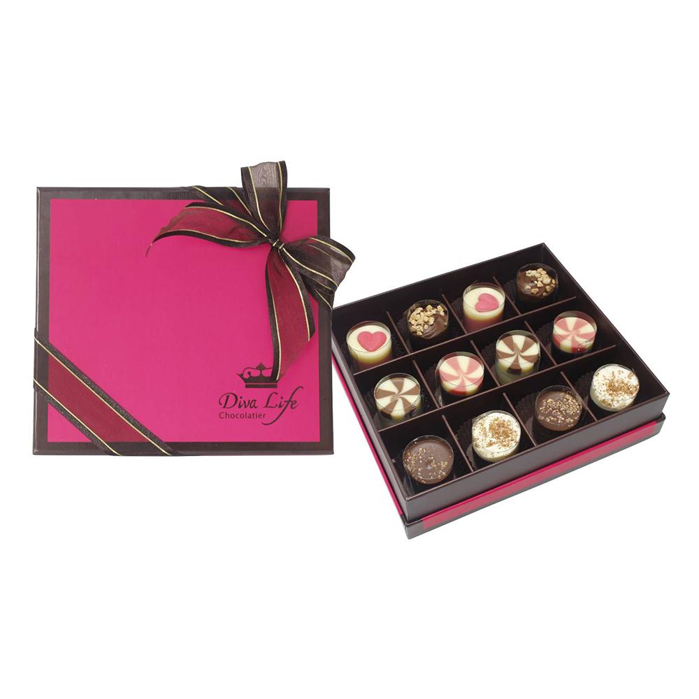 Diva Life 蛋糕松露巧克力12入禮盒(比利時進口)