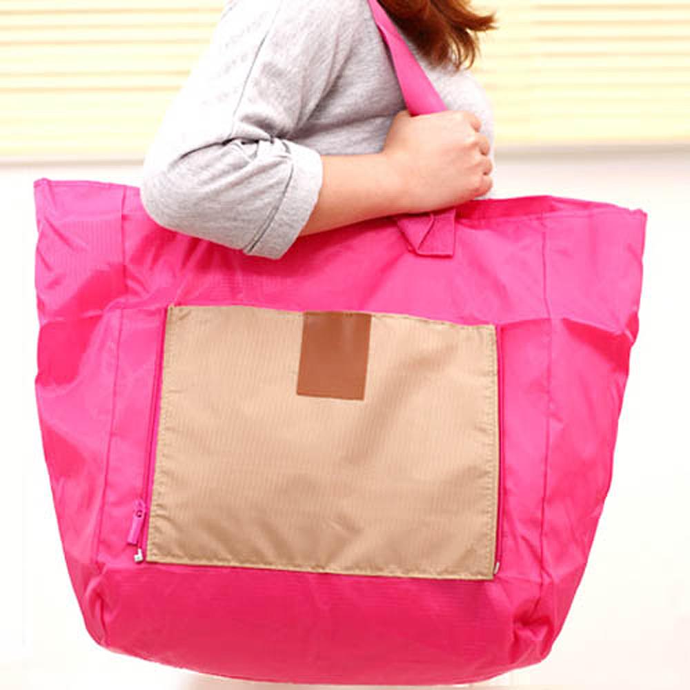 E.City_大容量旅行多功能折疊拉桿萬用袋