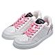 CHANEL 品牌字母標誌粉色縫線小牛皮運動鞋(白/粉) product thumbnail 1